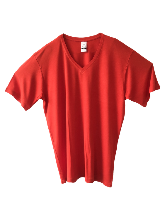 Loose fit V-neck T-shirt