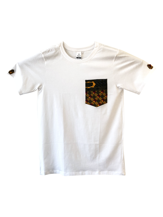 T-shirt with African print pocket