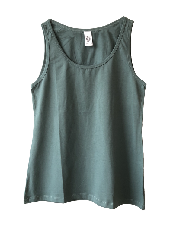 Tank top, round neck, woman, 100% cotton