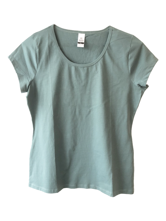 Plain scoop neck T-shirt