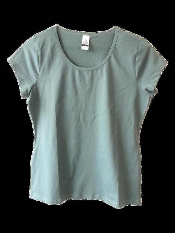 Plain scoop neck T-shirt