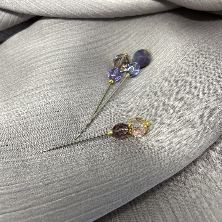 Lux handgjord Hijab nål -  Viol 3st