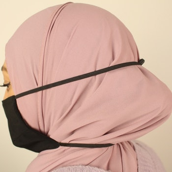 Sjalvänligt munskydd / svart- 100% Silke