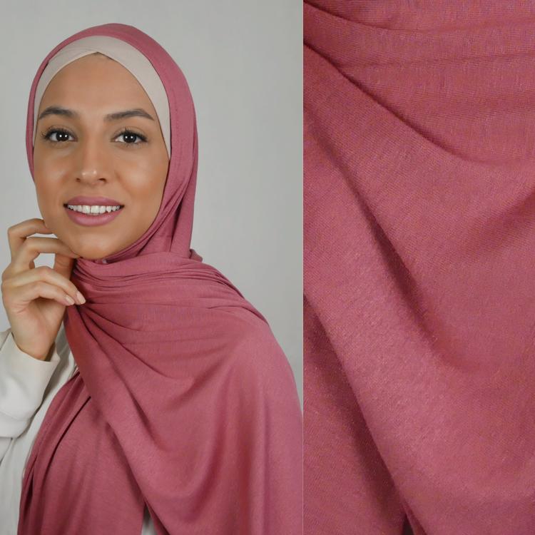 Hijab i Jersey premium. Maxi storlek i färgen sweet rose