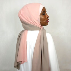 Instant Chiffong hijab med undersjal - ombré sahara