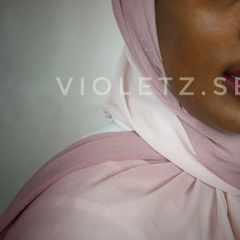 Instant Chiffong hijab med undersjal - ombré Roz