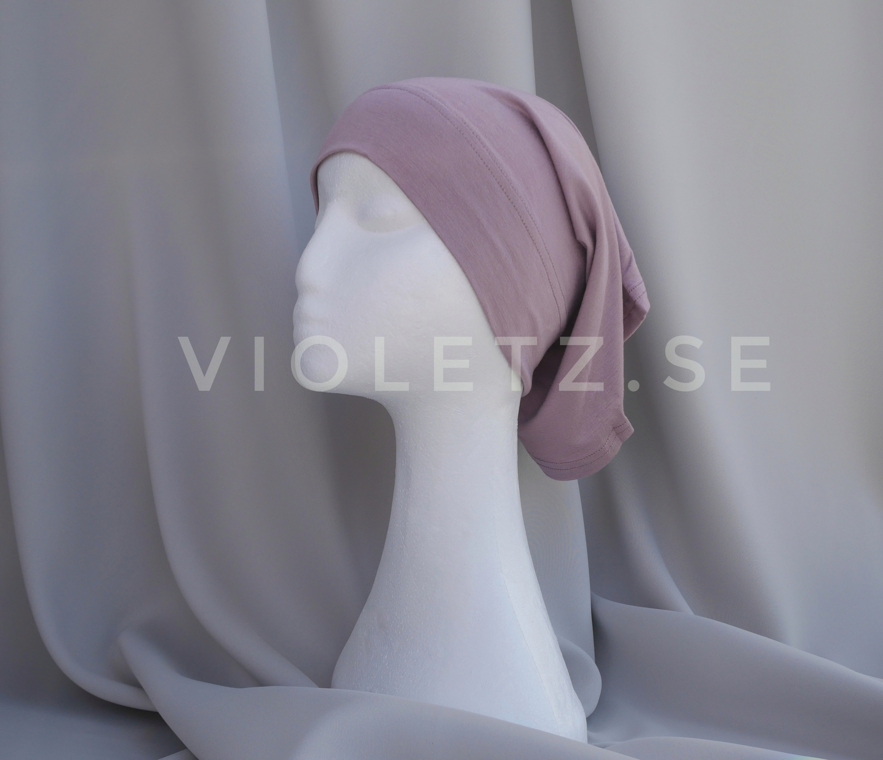 Instant Chiffong hijab med undersjal - orchid