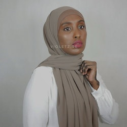 Instant Chiffong hijab med undersjal - bisque