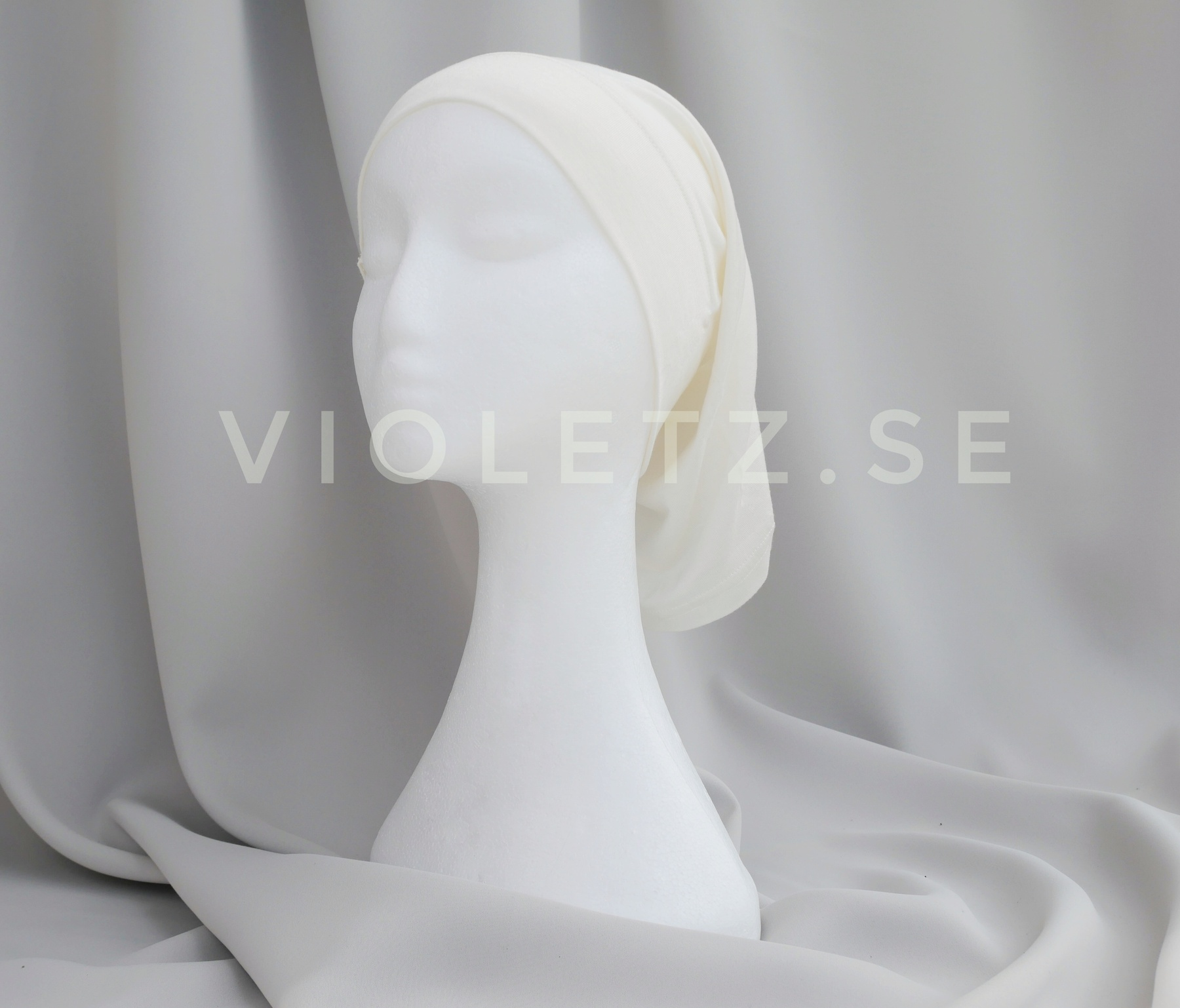 Instant Chiffong hijab med undersjal - cream
