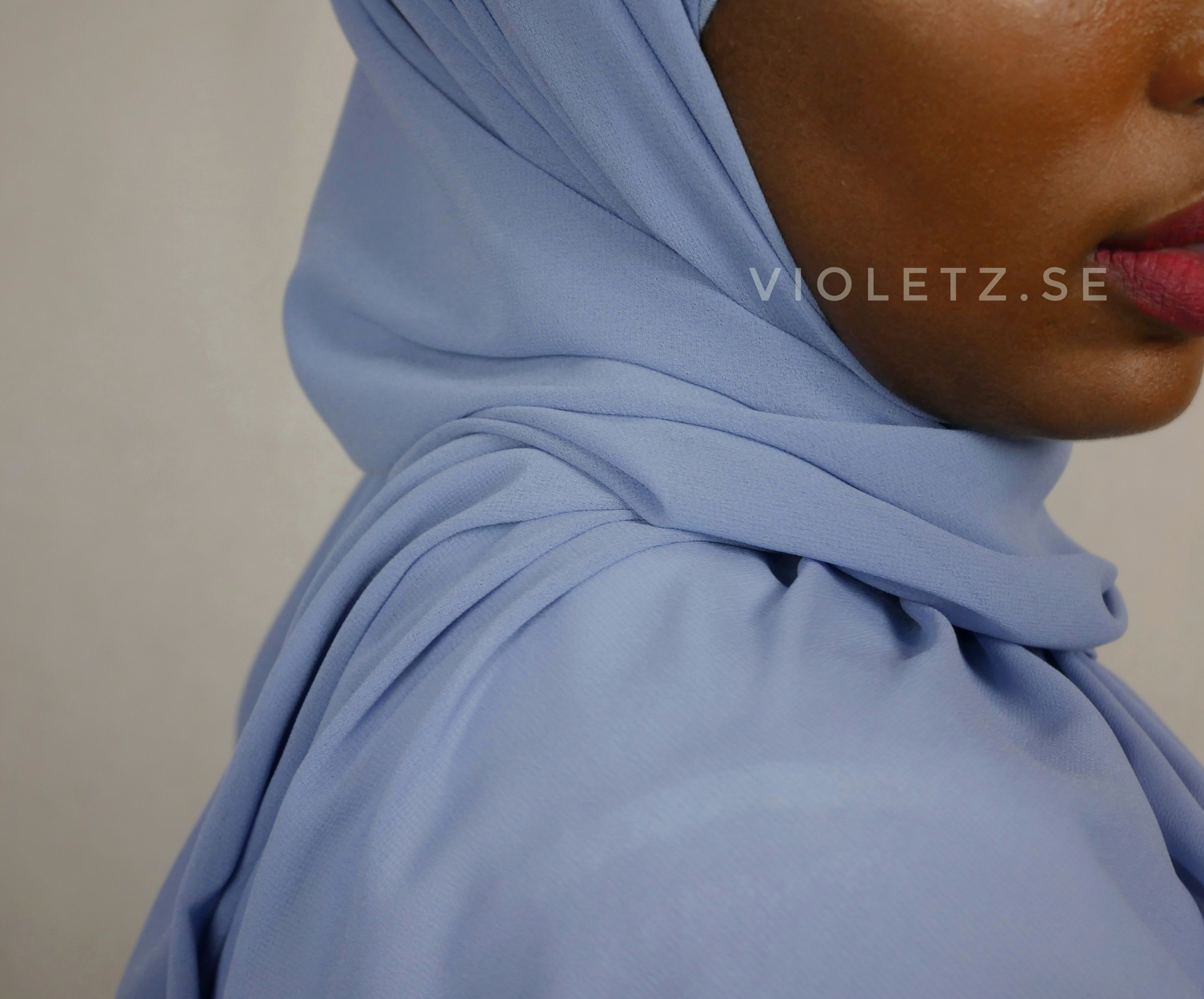 Instant Chiffong hijab med undersjal - arabian blue