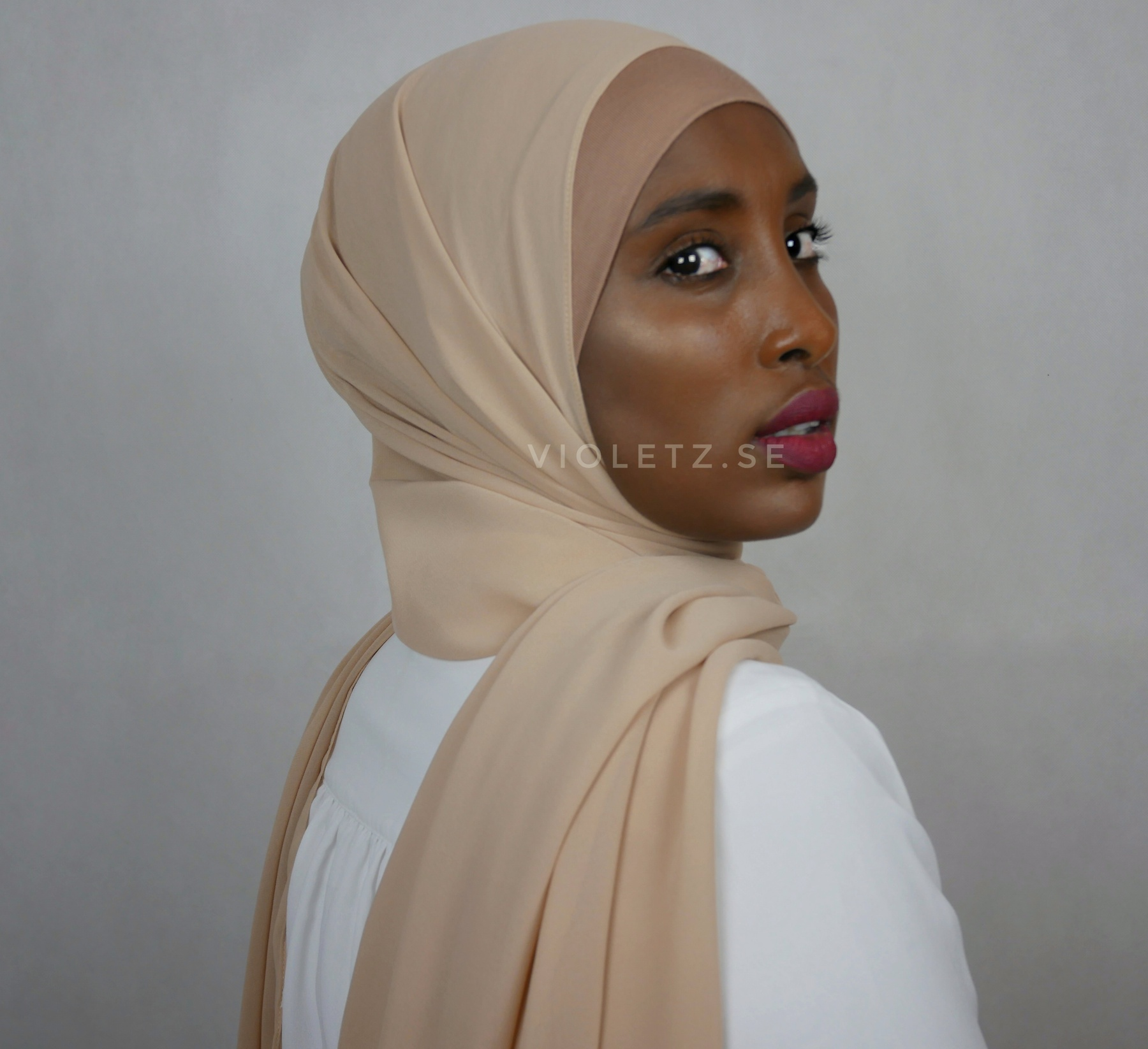 Instant Chiffong hijab med undersjal - toffe