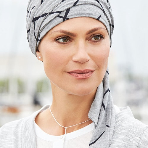 BELLE MADAME Mönstrad turban med scarf