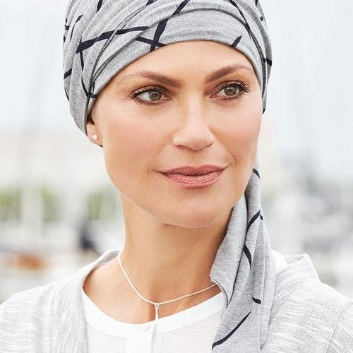 Mönstrad turban med scarf