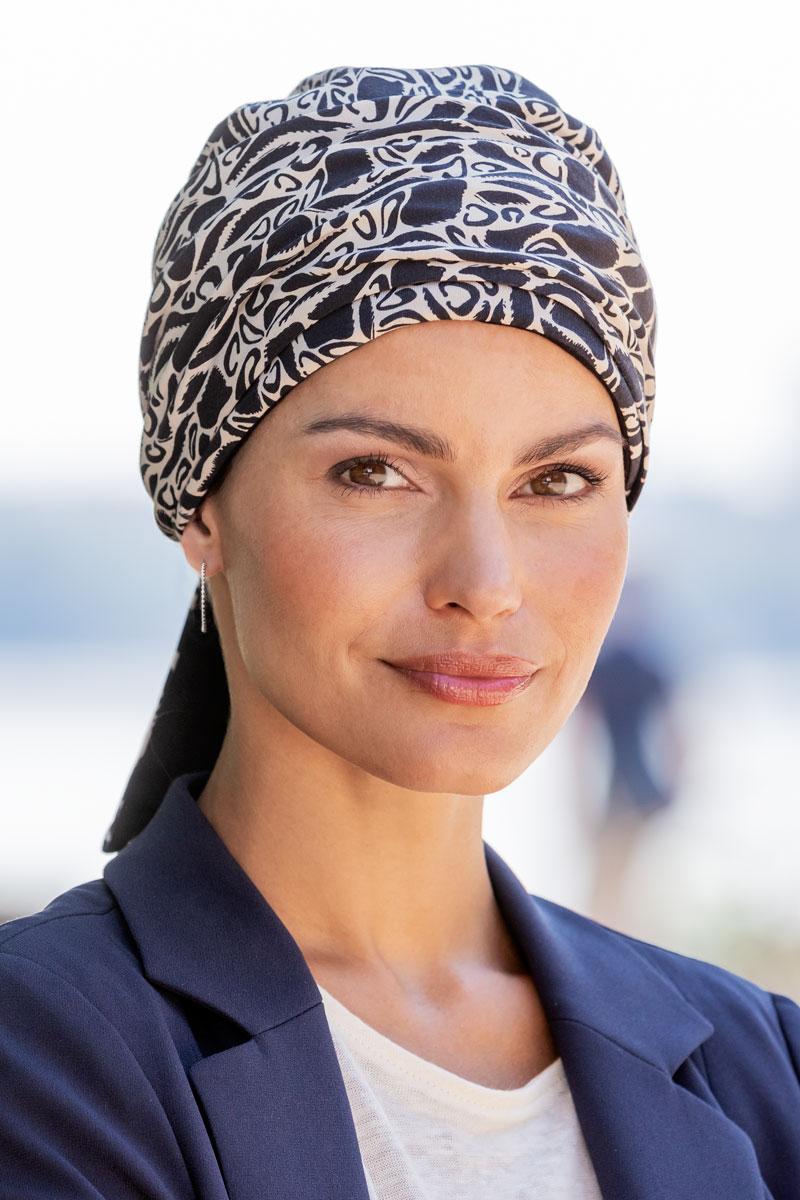 BELLE MADAME Mönstrad turban med scarf
