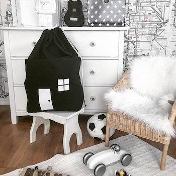 Förvaringspåse Hus - Svart