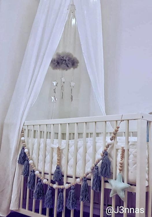 Sängmobil Pom Pom - Grå