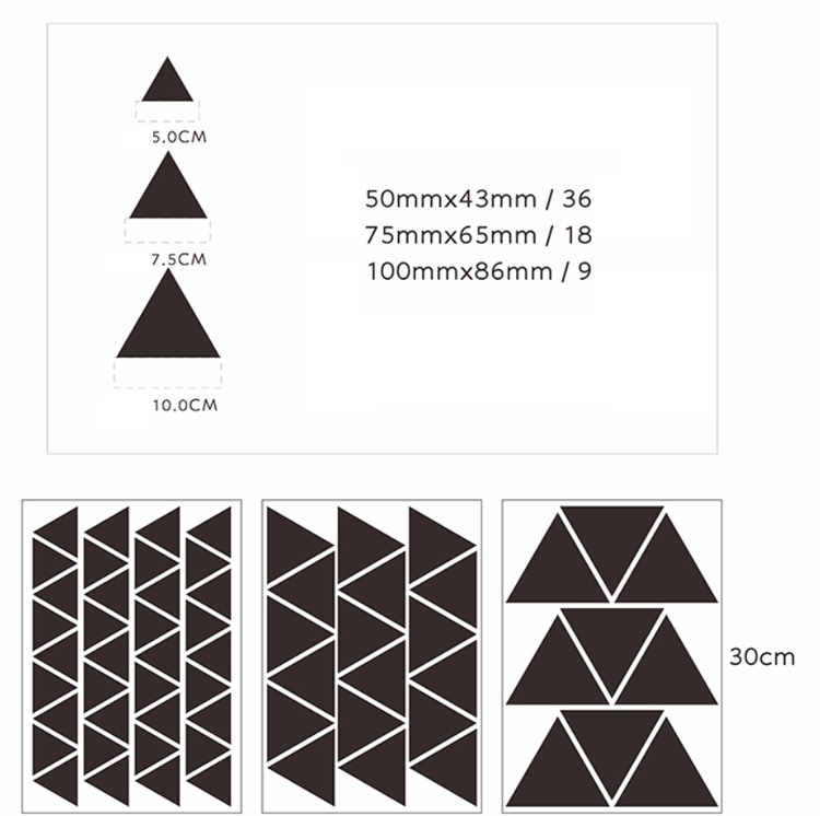 Wall stickers - Triangel
