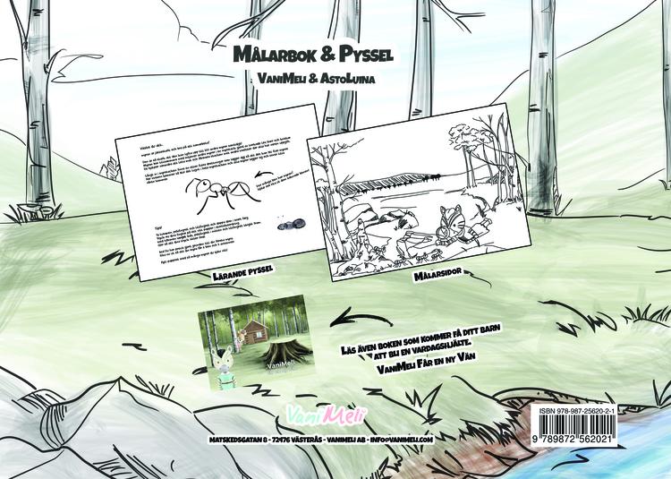 Målarbok med pyssel - E-BOK (PDF)
