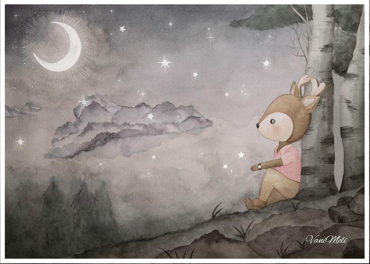 VaniMeli - Reach for the stars ( Konsttryck / Poster )