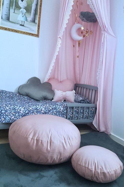 NORA Sittpuffar - Doft rosa