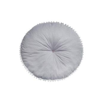 Golvkudde med pompom - Grå