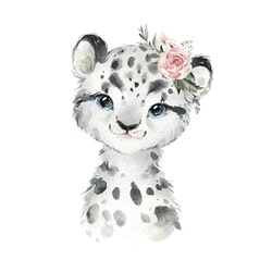 Snöleopard - Var unik ( Konsttryck / Poster )