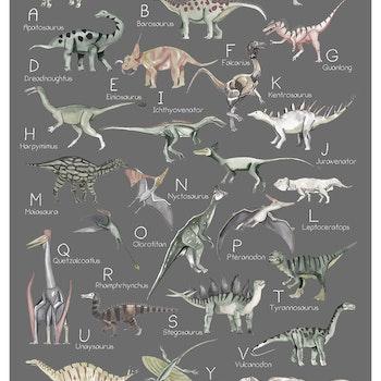 Dinosaurie Alfabetet  ( Konsttryck / Poster )