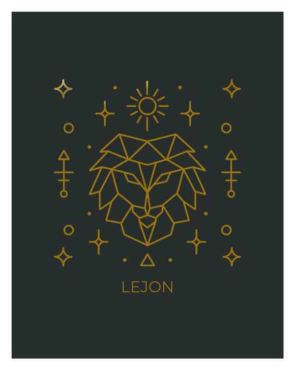 Stjärntecken - Lejon ( Konsttryck / Poster )