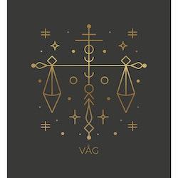 Stjärntecken - Våg ( Konsttryck / Poster )