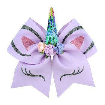 Hårspänne m. Rosett - Unicorn Lila