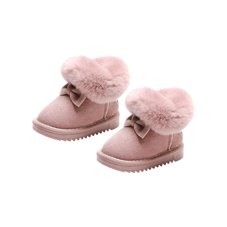 Boots med päls - Rosa