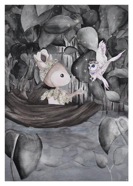 Glittriga bäcken VaniMeli - Poster/Konsttryck