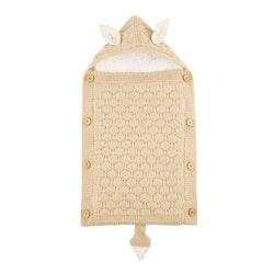 Stickad sovsäck - Beige
