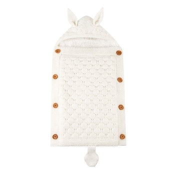 Stickad sovsäck - Off white