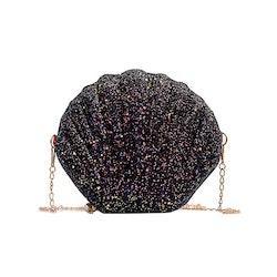 Handväska svart snäcka