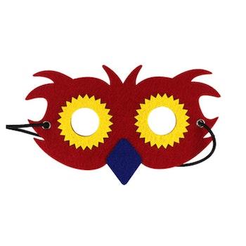 Ansiktsmask- Röd Uggla