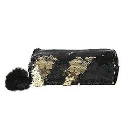 Pennfodral Glitter - Svart m. Guld