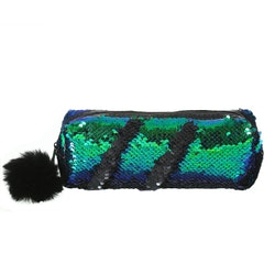 Pennfodral Glitter - Grön m. Svart
