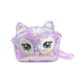Handväska Paljett - Katt Lila