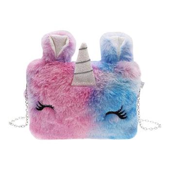 Handväska Päls - Enhörning Rosa & Blå
