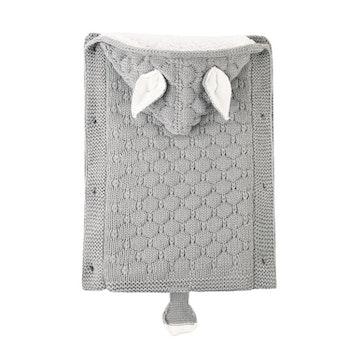 Stickad sovsäck - Ljusgrå