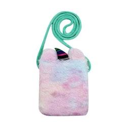 Handväska Päls - Enhörning Mint/Blå/Rosa