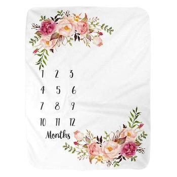 Milestone Blanket- Blommor