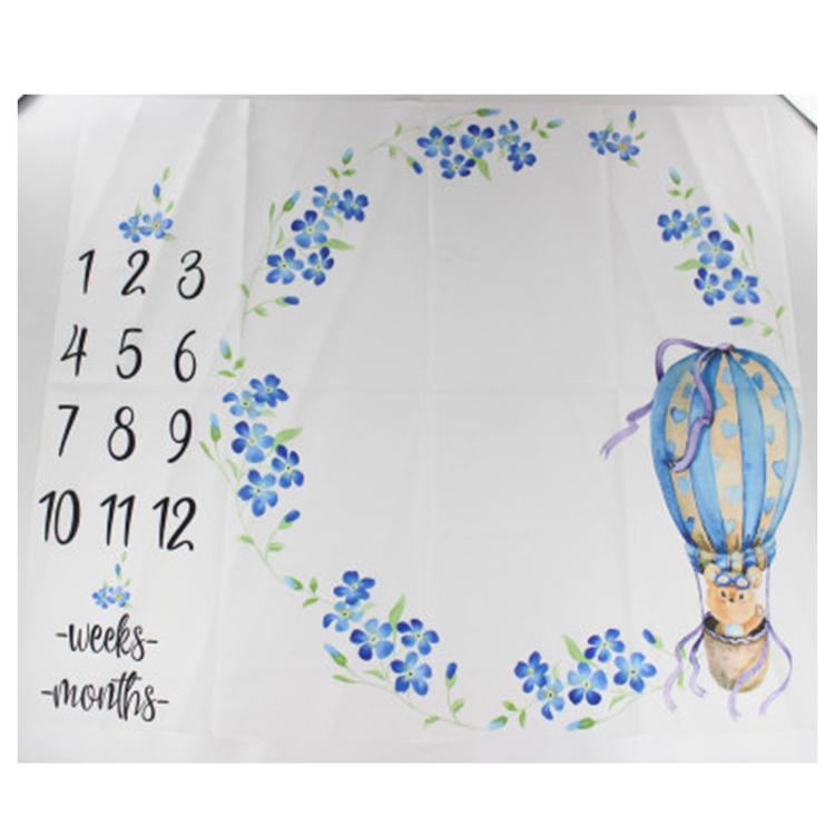 Milestone Blanket- Luftballong