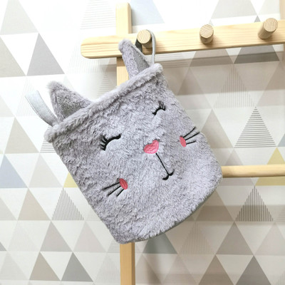 Förvaringskorg Katt - Grå