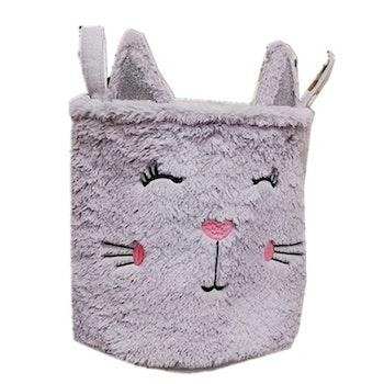 Förvaringskorg Katt - Ljusgrå