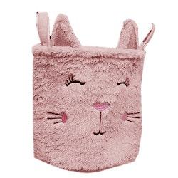 Förvaringskorg Katt - Rosa