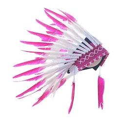 Fjäderskrud - Indian / Ursprungsamerikan  - Rosa/Vit