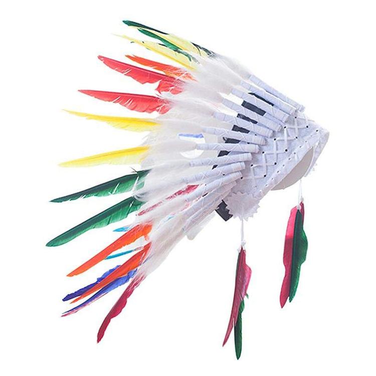 Fjäderskrud - Indian / Ursprungsamerikan  - Regnbåge