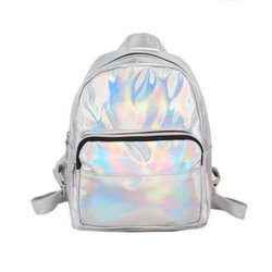 Ryggsäck Metallic - Glansig Silver